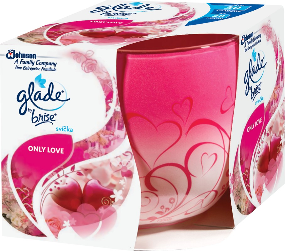 Svíčka GLADE Only Love 120 g, cena za ks