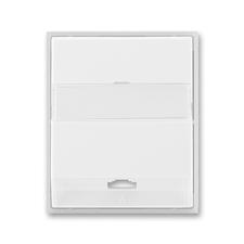 Kryt telefonní zásuvky s 1 otvorem Time/Element bílá / ledová bílá