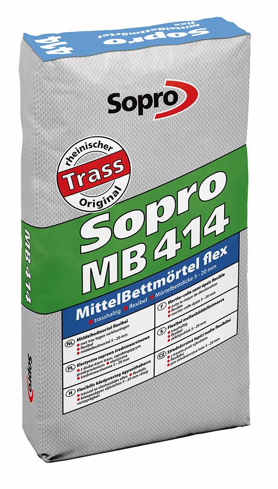 Cementová malta pro lepení dlažby a obkladů Sopro MB 414 balení 25kg