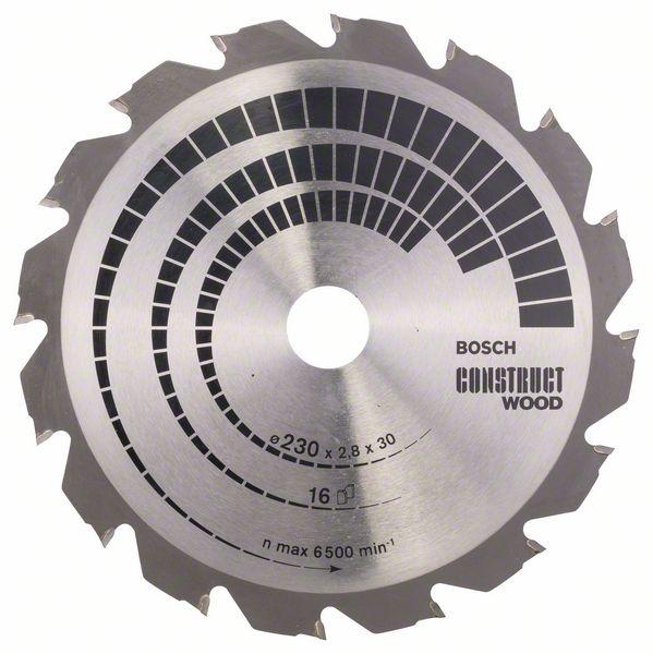 Kotouč pilový Bosch Construct Wood 230×30×1,8 mm 16 z.