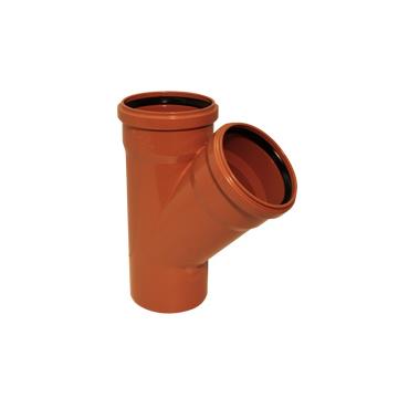 KGEA odbočka pro připojení boční kanalizační větve DN 150/150, úhel 45°