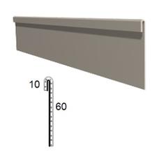 Stěnová lišta rovná z poplastovaného plechu Viplanyl r.š. 70 mm