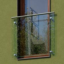 Zábradlí s madlem JAP ANDROMEDA okno š. 1000 mm sklo čiré