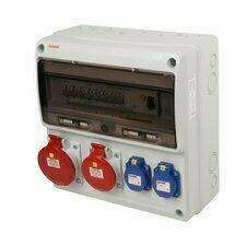 Kombinace zásuvková s elektroměrem Famatel 2× 230 V 2× 400 V