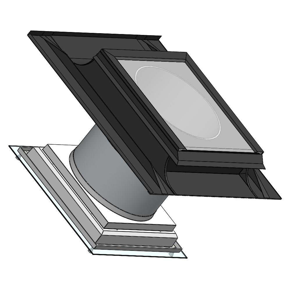 Světlovod pro šikmou střechu SUNIZER SHORT SQUARE průměr 530 mm