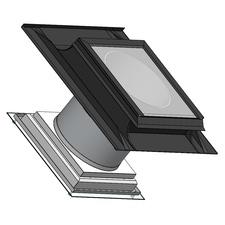 Světlovod pro šikmou střechu SUNIZER SHORT SQUARE průměr 330 mm