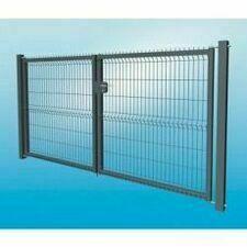 Plotová brána 3D dvoukřídlá z pozinkované oceli, výška 1530 mm, šířka 3000 mm