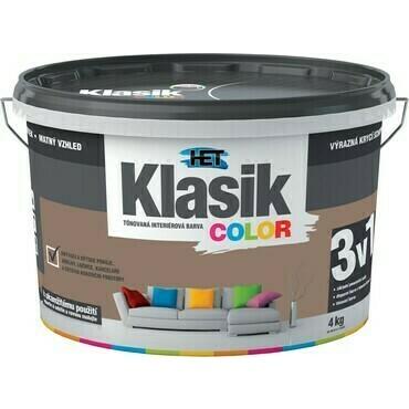 Malba interiérová HET Klasik Color hnědý nugátový, 4 kg