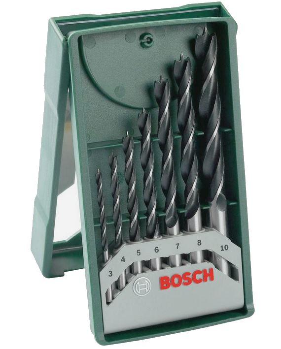 Minisada vrtáků do dřeva Bosch X-Line (7 ks/sada)