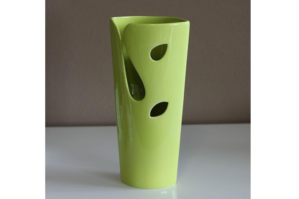 Keramická váza - zelená