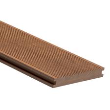 Prkno terasové dřevoplastové WPC PERI plné odstín teak 140×20×2900 mm