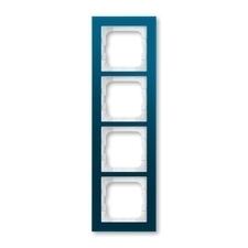 Rámeček ABB Busch-axcent čtyřnásobný sklo modré