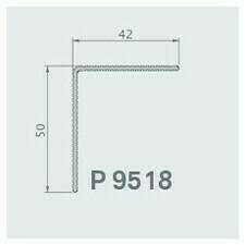 """Dokončovací hliníkový okopový profil """"L"""" Twinson 42x50mm, 9518, elox"""