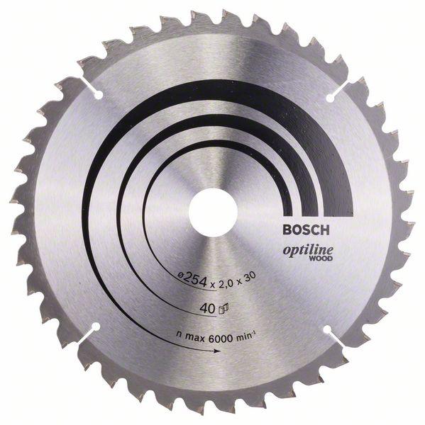 Kotouč pilový Bosch Optiline Wood 254×30×1,4 mm 40 z.