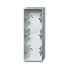 Krabice přístrojová trojnásobná nástěnná Future linear hliníková stříbrná