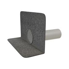 Balkónový chrlič s integrovaným bitumenovým límcem o průměru 125 mm