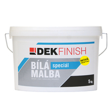 Malba interiérová DEKFINISH speciál bílá, 5 kg