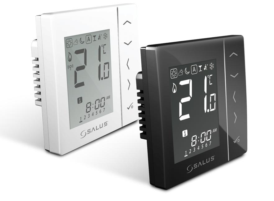 Týdenní programovatelný termostat SALUS VS30W, 230 V, bílý