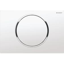 Tlačítko ovládací Geberit SIGMA10 bílá/chrom lesk/bílá