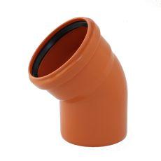 KGB koleno pro kanalizační potrubí DN 125 mm, úhel 45° , barva oranžová