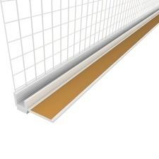 Profil okenní začišťovací plastový s tkaninou