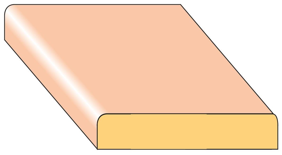 Lišta krycí K1 smrk nastavený 44×8×2000 mm, 25 ks/bal.