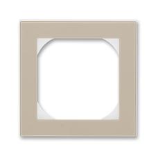 Rámeček jednonásobný s otvorem 55×55 Levit macchiato / bílá