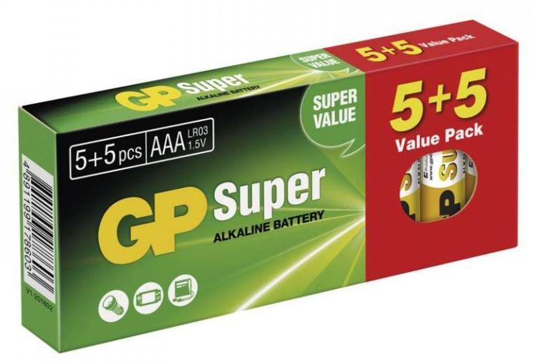 Baterie LR03 AAA GP Super 10 ks/bal