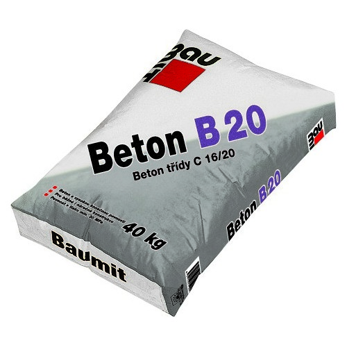 Mrazuvzdorná betonová směs Baumit Beton B 20, 40 kg