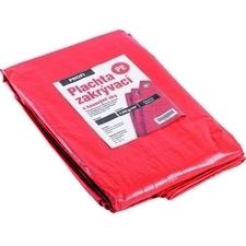 Plachta zakrývací DEK PROFI 140 g/m2 červená/stříbr. 5×8 m