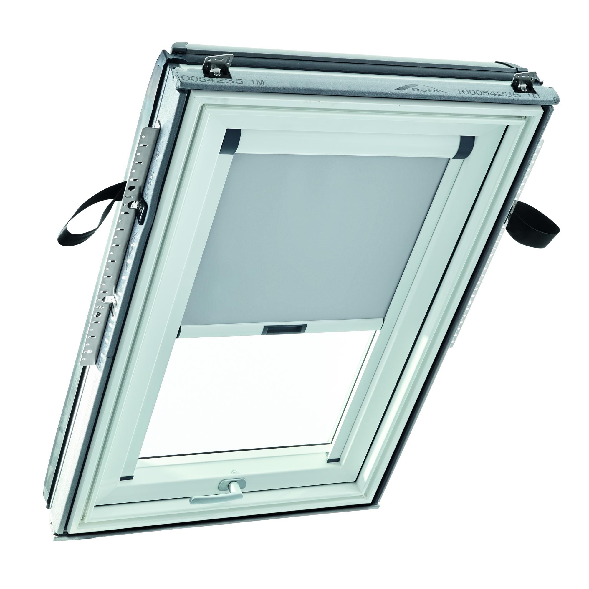 Roleta zatemňujicí ROTO ZRV pro okna R4/R7 barva bílá 650×1180 mm