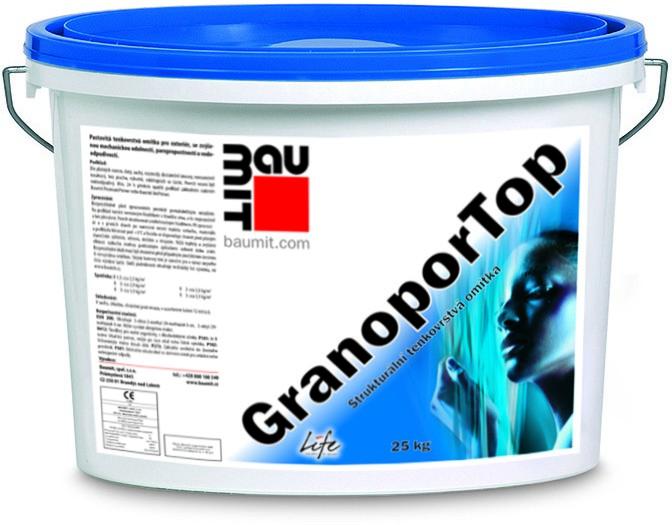 Minerální škrábaná omítka Baumit GranoporTop 1,5mm, 25kg