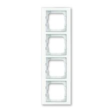 Rámeček ABB Busch-axcent čtyřnásobný sklo bílé