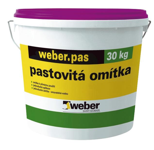 Zrnitá omítka Weber.pas aquaBalance regulující vlhkost na fasádě 1,5mm, bezpříp.odstín