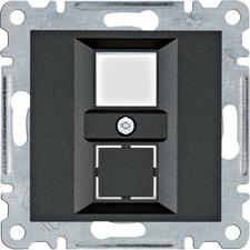 Kryt dvojité datové zásuvky Hager lumina, černá