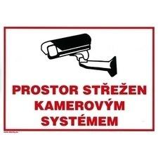 Tabule zákazová Prostor střežen kamerovým systémem A4