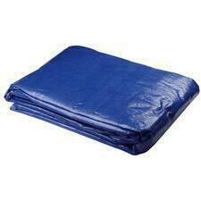 Plachta zakrývací Profi 140 g/m2 modrá/stříbrná 3×4 m