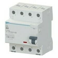 Chránič proudový OEZ LFE-25-4-030AC 6 kA 4pól 25 A