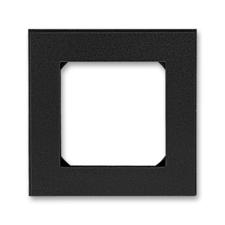 Rámeček jednonásobný Levit onyx / kouřová černá