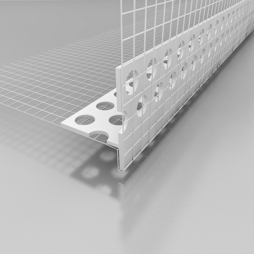 Okenní profil s okapničkou do nadpraží ETICS LT, plastový, šířka tkaniny 100 mm, délka profilu 2,0 m