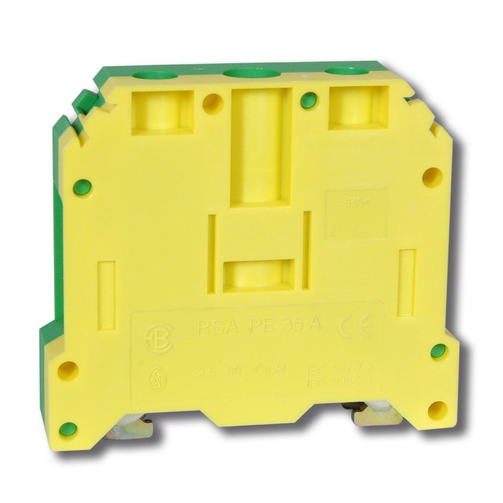 Svorka řadová RSA PE 35 A zelenožlutá, cena za ks