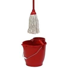 Souprava úklidová (mop, kbelík s mřížkou) Kana