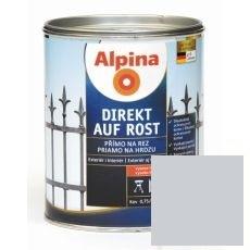 Lak na kov Alpina Direkt A Rost 2,5 l lesk stříbrná RAL9006