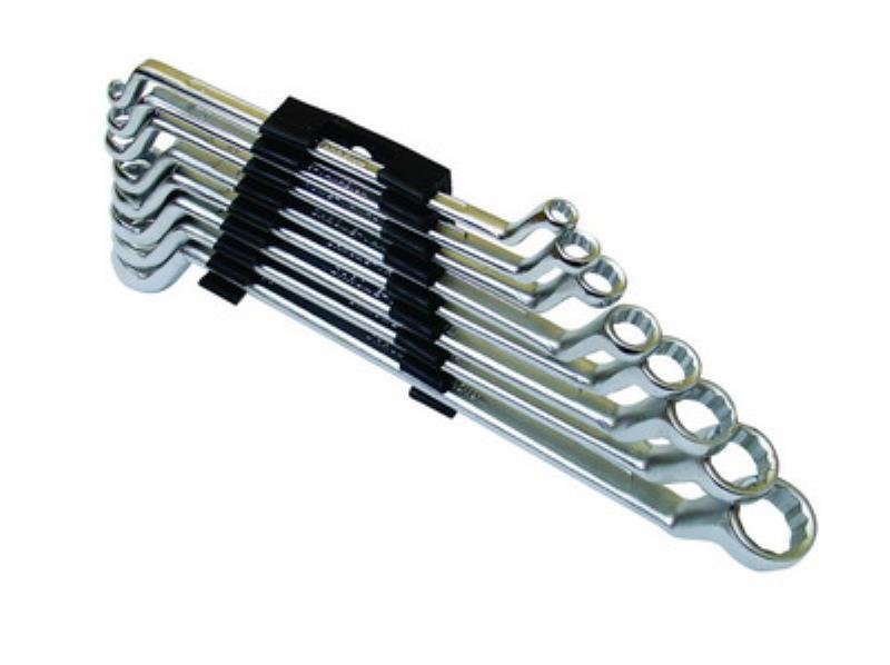 Klíče očkové vyhnuté, 6–22 mm (8 ks/sada)