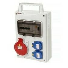 Kombinace zásuvková Famatel 2× 230 V 1× 400 V