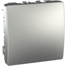 Kryt záslepný 2 moduly Schneider Unica aluminium