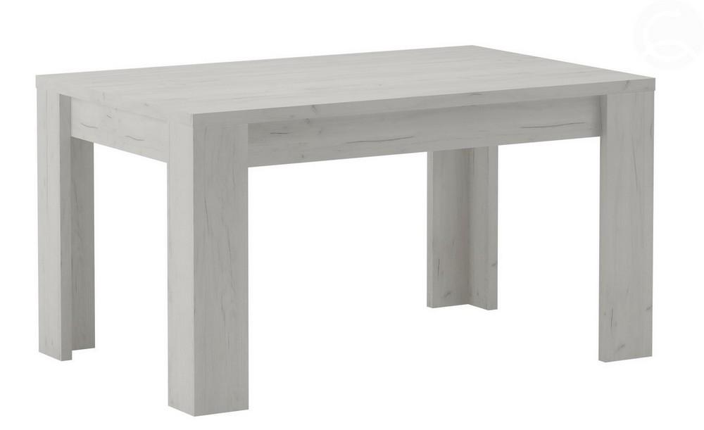 Jídelní stůl rozkládací KORA 120x80 jasan bílý, cena za ks