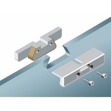 Držák celoskleněných dveří, vsazovací kování pro tloušťku skla dveří 10 mm