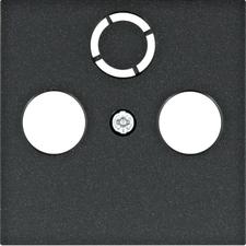 Kryt přístroje TV+R Hager lumina, černá