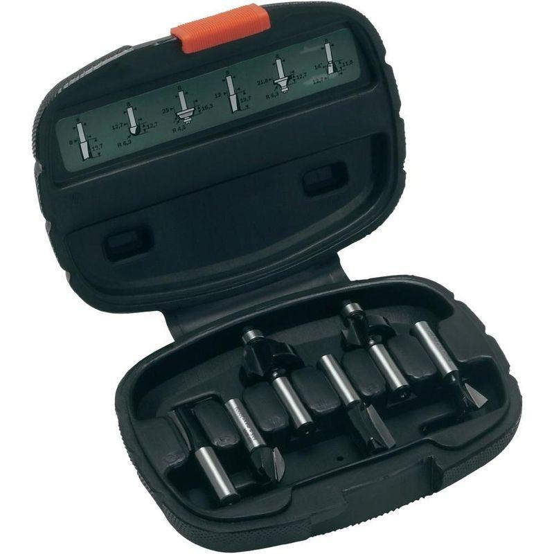 Sada fréz z tvrdokovu Bosch, průměr stopky 8 mm (6 ks/sada)
